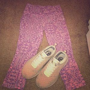Reebok Patterned Purple Leggings